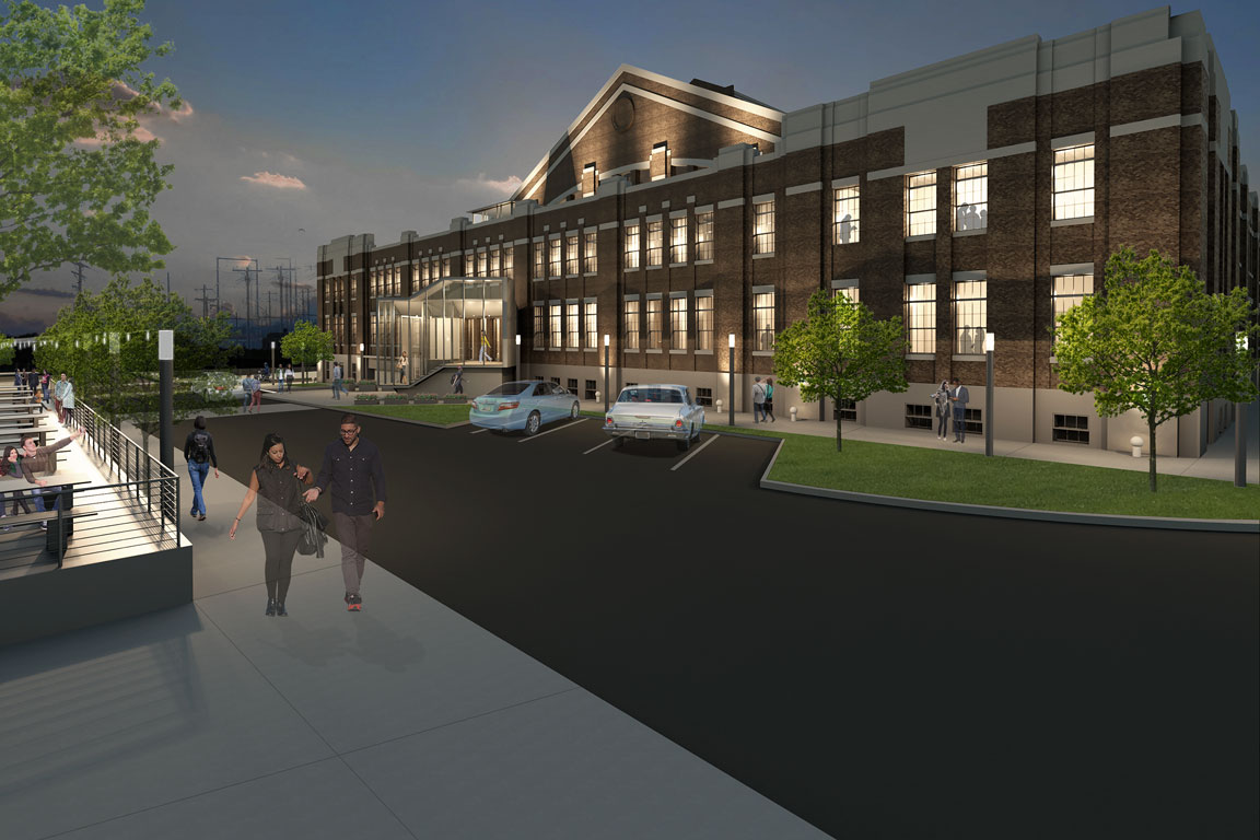 Rendering of the St. Louis Armory project