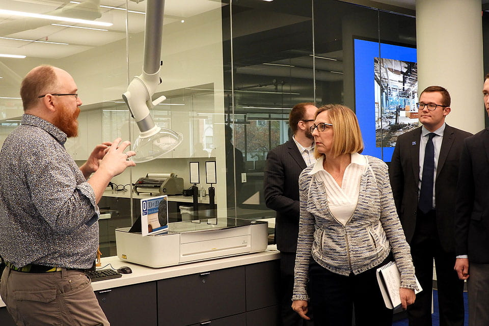 Domnall Hegarty discusses 3D printing and digital history with Nancy Brickhouse, Ph.D.