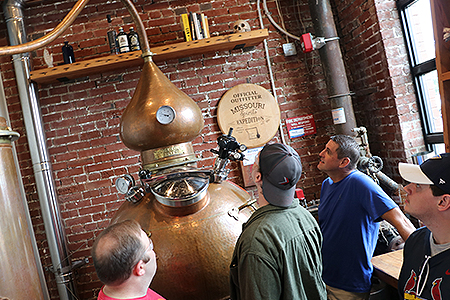 Brewing science students participate in an on-site class.
