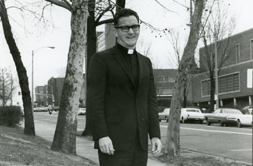 Bernard J. Coughlin, S.J., former and first dean of the School of Social work at Saint Louis University, died Jan. 28, 2020. He was 97. Coughlin left SLU in 1974 to become the 23rd president of Gonzaga University.