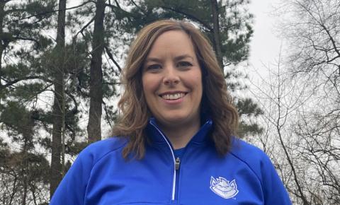 Deborah Hortman, assistant professor of nursing in SLU's Trudy Busch Valentine School of Nursing and a member of SLU's COVID-19 Vaccination Team, was recognized at the 2021 Excellence in Nursing awards.