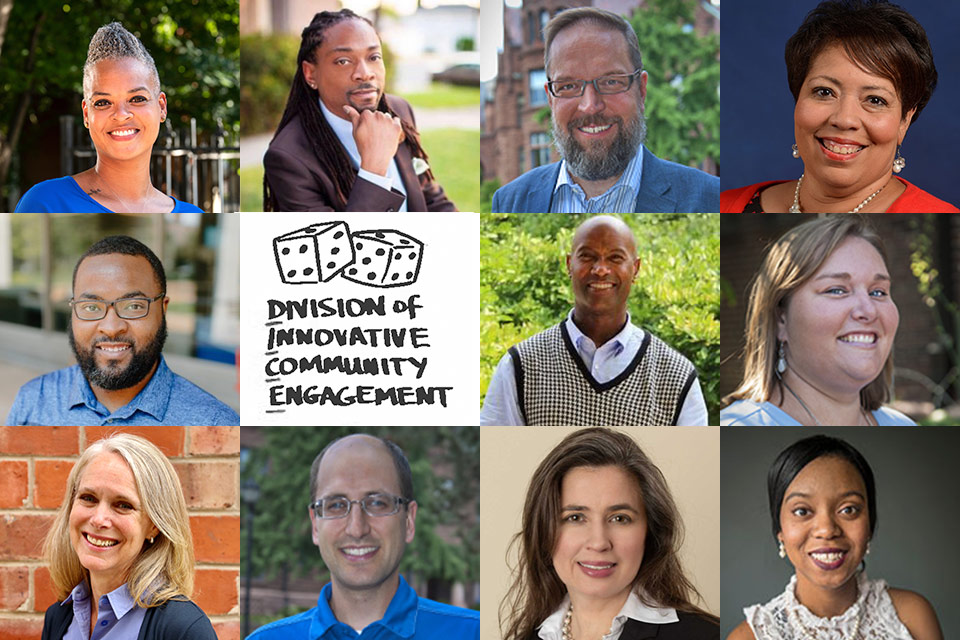 Core leadership, faculty and staff of SLU's Division of Diversity and Innovative Community Engagement (DICE).