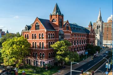 SLU's campus, an aerial view.