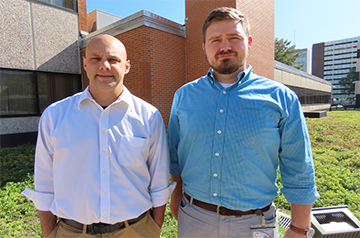Jim Edwards, Ph.D., and Chris Arnatt, Ph.D., were among the chemistry department's faculty  who will receive $5.7 million in federal funding over the next five years.