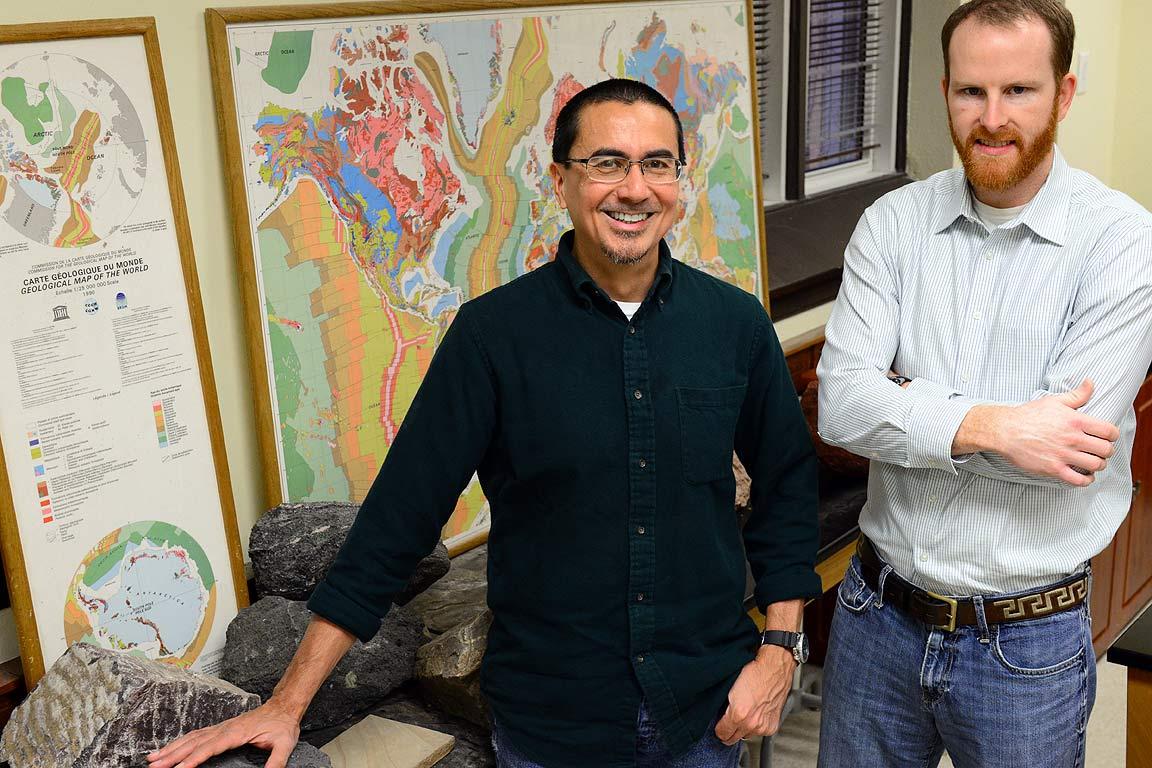 SLU geologists John Encarnacion, Ph.D., and Timothy Keenan