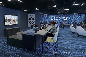 Rendering of Esports Gaming Lab