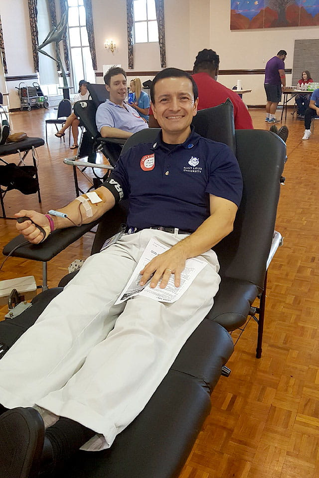 Frank Tucci makes his 100th donation