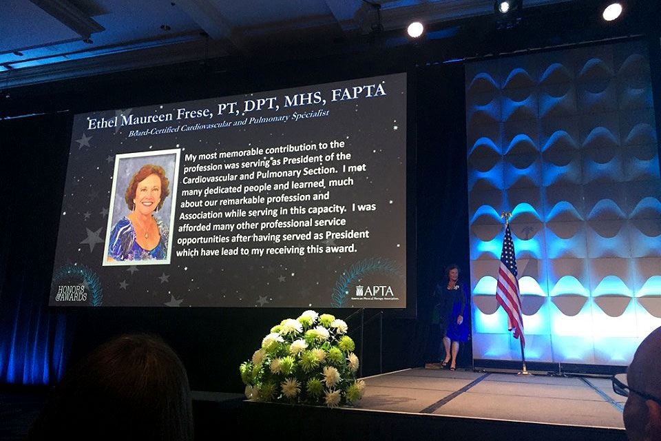 Ethel Frese, DPT, at APTA Awards Ceremony