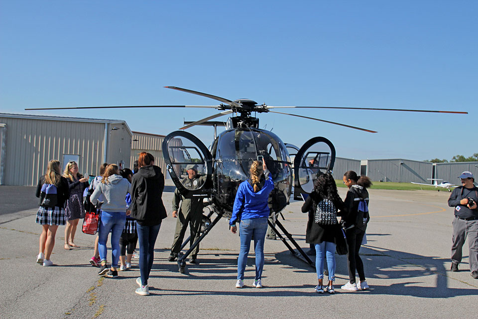 Girls explore careers in aviation