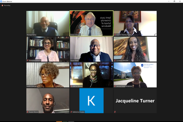 A Zoom shot of the presenters and guest at the 2020 virtual John H. Gladney, M.D. Awards.