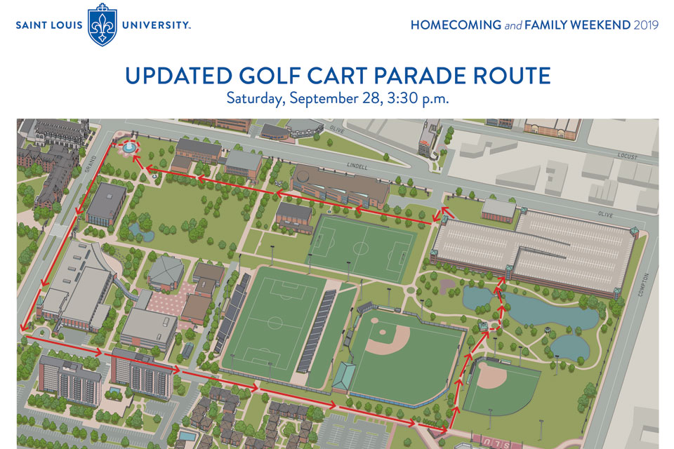 2019 Golf Cart Parade Route