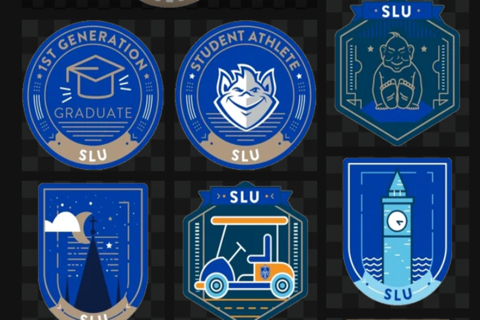 A selection of SLU Honor the Day stickers for social media posts.