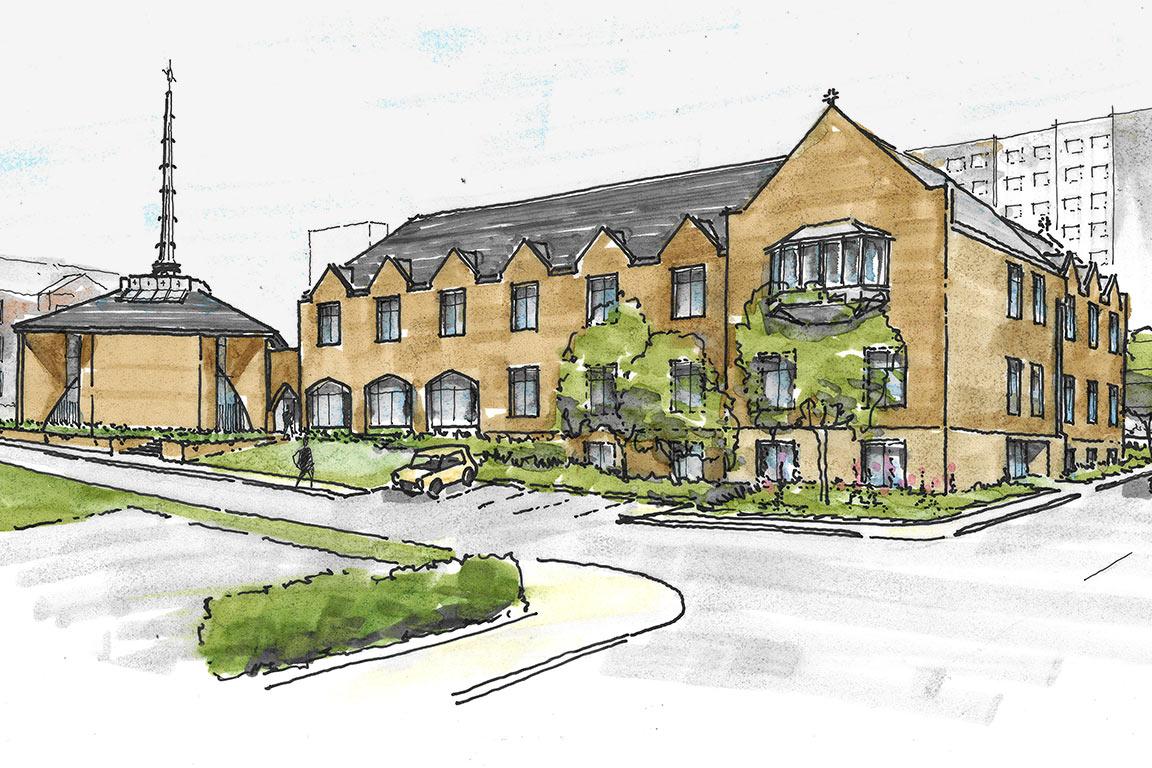 Rendering of new jesuit residence