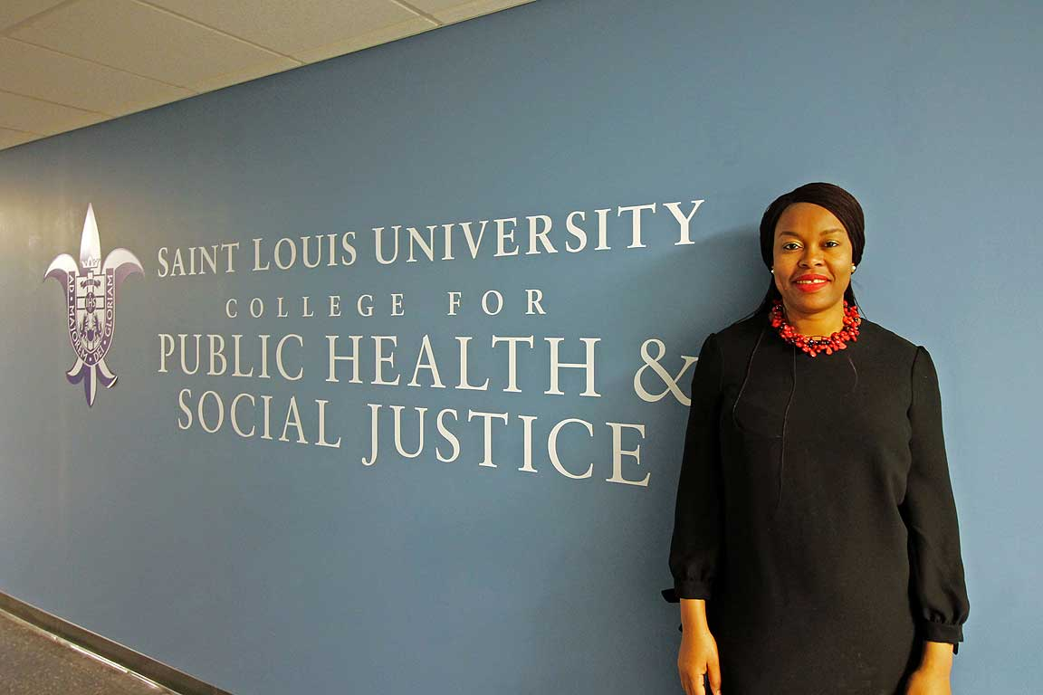 Juliet Iwelunmor, Ph.D., an associate professor of global health and behavioral science and health education in SLU's College for Public Health and Social Justice, was awarded a $2.3 million grant from the National Institutes for Health to develop and evaluate the I-TEST project.