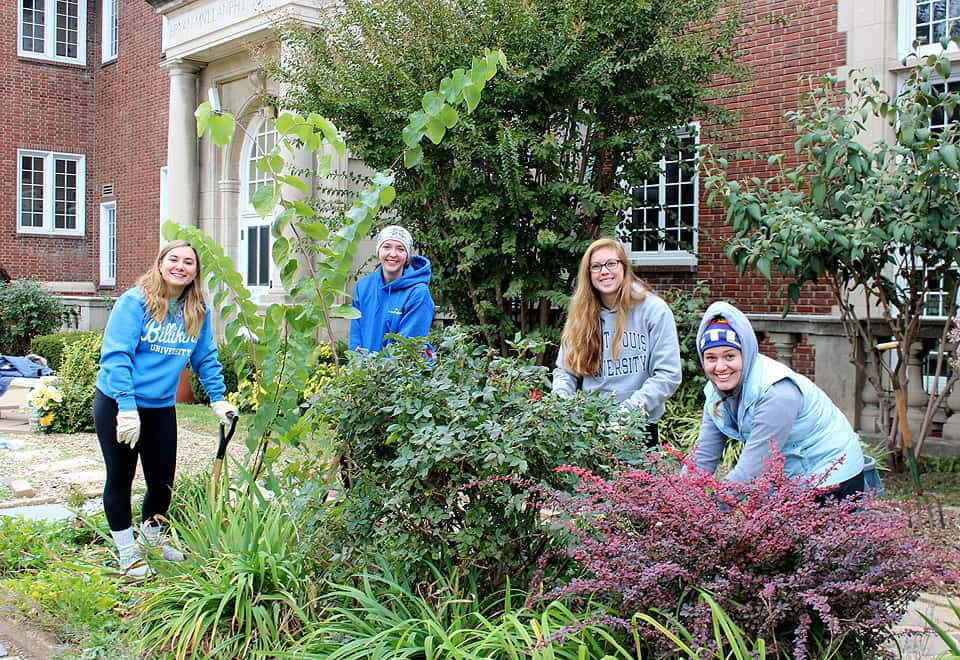Students volunteer for the annual Make a Difference Day,