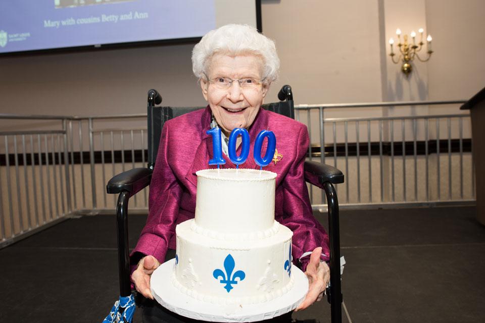 Mary Breummer on her 100th birthday.