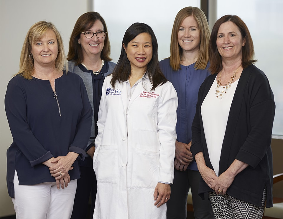 SLUCare's NCQA Team, pictured from left to right, are Vheryl O'Shea, Beth Page, Dr. Dawn Hui, Katie Sniffen and Jeanne Lawo.