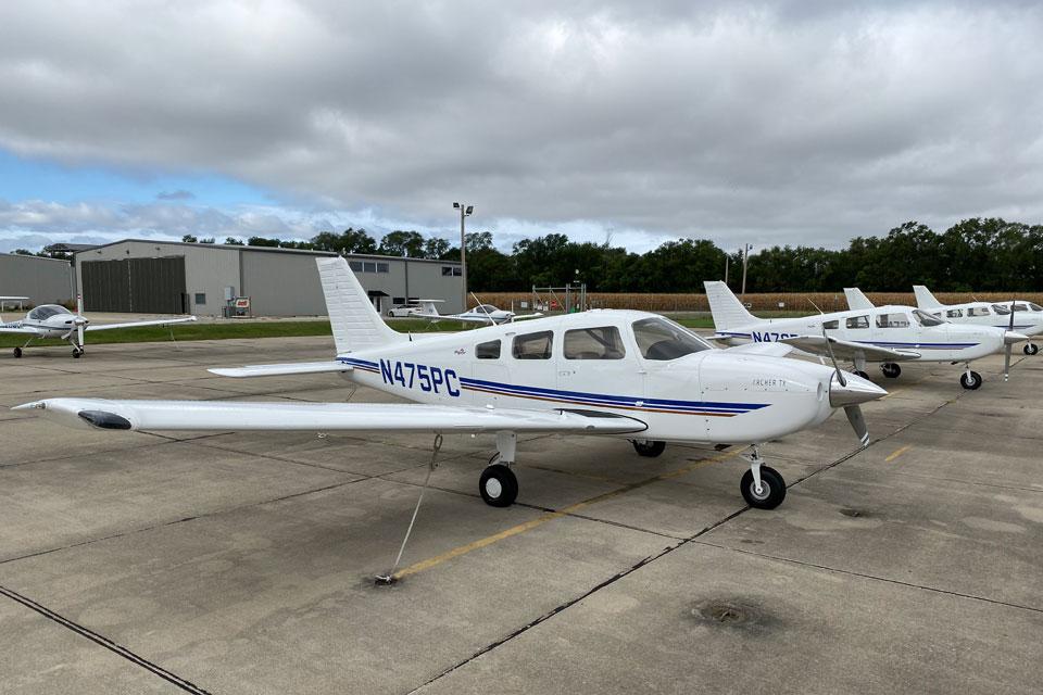 Piper Archer TX (PA28-181) aircraft used by aviation students at SLU. SLU file photo.