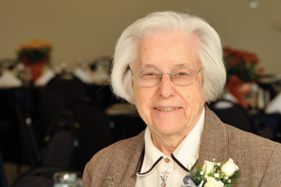 Sister Mary Teresa Noth, Ed.D., dean of the School of Nursing from 1966-1982, died on Friday, Dec. 14. A member of the Franciscan Sisters of Mary community, Sister Noth was 95.