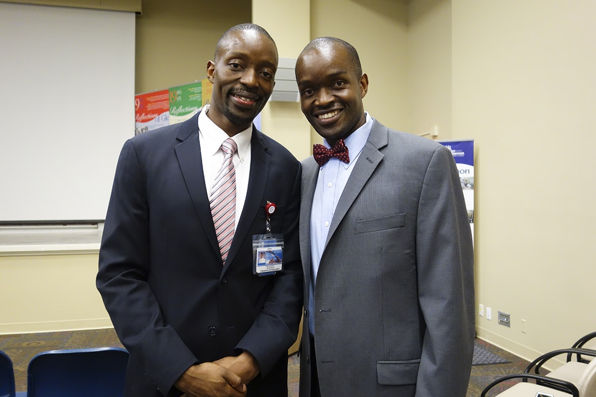 "Fred Ochieng', M.D., a fellow in cardiovascular medicine at Saint Louis University School of Medicine, and his brother Milton Ochieng', M.D., will deliver the Atlas Keynote Address, ""Sons of Lwala: Honoring the Dreams of Our Parents."" The two are co-founders of Lwala Community Alliance."