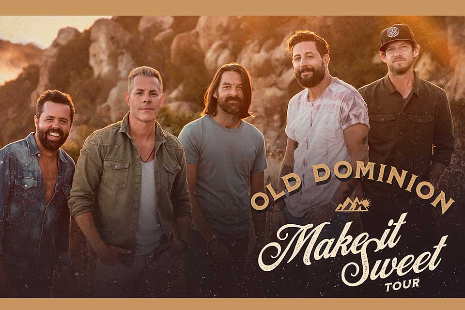 """Purchase tickets for the March 29 """"Old Dominion: Make It Sweet Tour"""