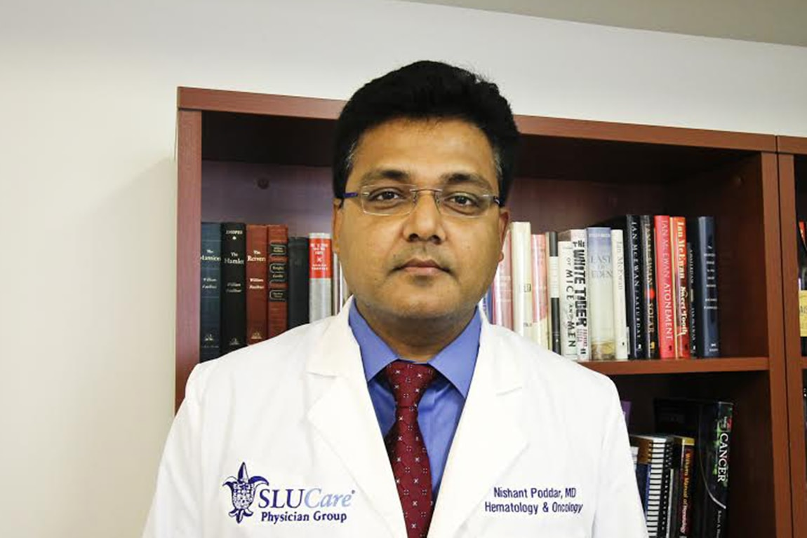 Nishant Poddar, M.D., assistant professor of hematology and oncology at SLU and a SLUCare cancer doctor