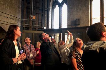 David Suwalsky, S.J. (center) leads a Pop-Up Pilgrimage