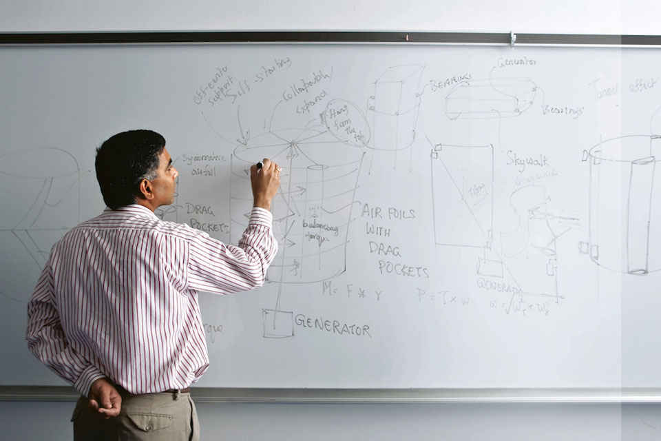 Professor at a whiteboard
