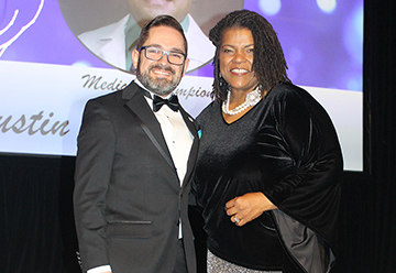 The Arthritis Foundation named Austin Dalrymple, DO, a SLUCare pediatrician and an assistant professor of pediatrics at Saint Louis University School of Medicine, as its 2019 Medical Champion. Dalrymple received the award at the Foundation's Silver Ball Gala on Dec. 7.