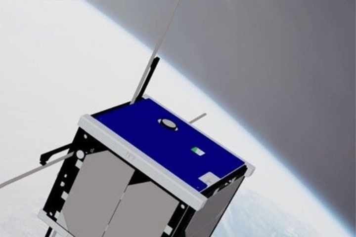 The Argus-2 Satellite Being Deployed from the International Space Station