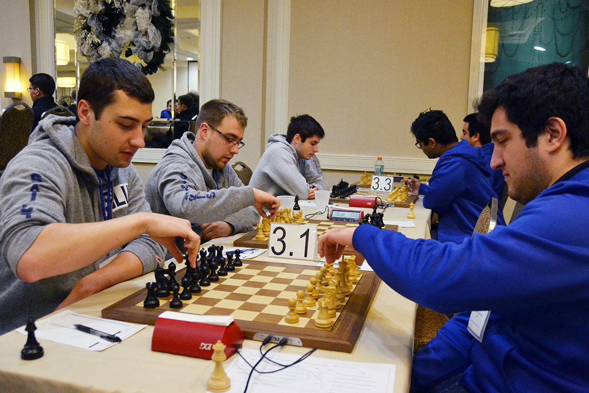 Saint Louis University's chess team competes at the Pan-American Intercollegiate Team Chess Championship.