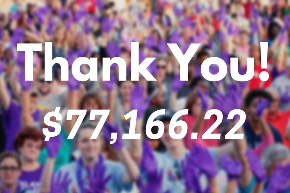 Final tally from the 2020 SLU Relay For Life event.