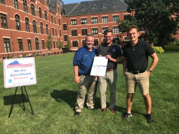 The National Weather Service has designated Saint Louis University as StormReady, thanks to the efforts of SLU meteorology students. The StormReady program focuses on communication, mitigation, and community preparedness to save lives and property from severe weather.