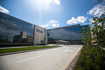 Saint Louis University and SLUCare Physician Group joined SSM Health in a celebration of the new SSM Health Saint Louis University Hospital and outpatient care facility. The new hospital opened Tuesday, Sept. 1.