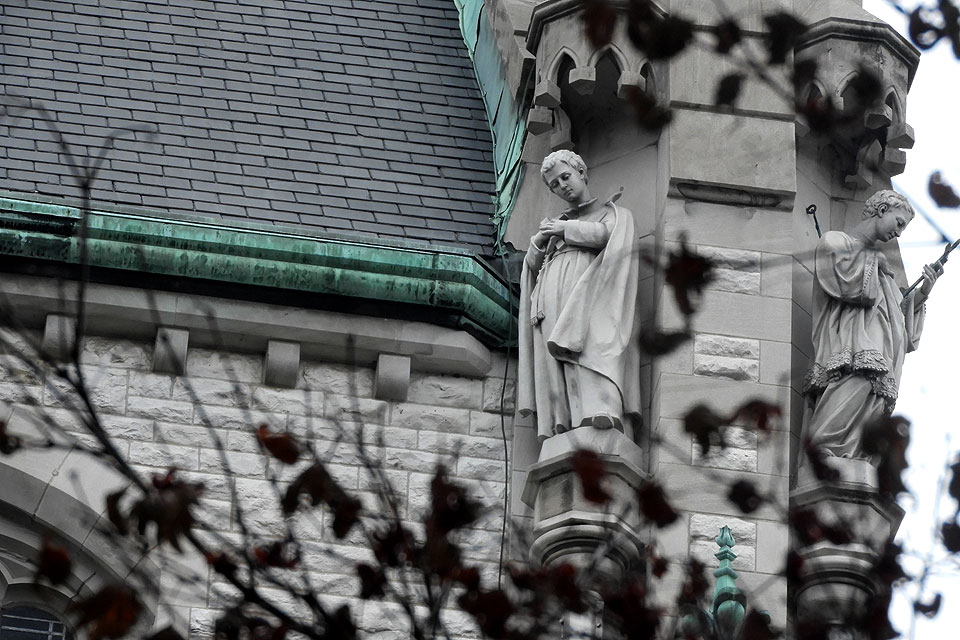Detail of St. Francis Xavier College Church