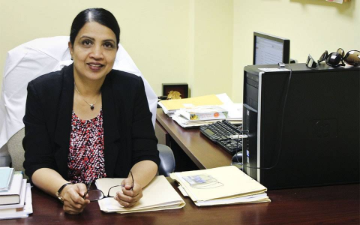 Suma Chand, Ph.D., associate professor in the department of psychiatry and behavioral neuroscience.