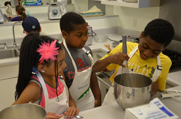 Future Billikens learn about nutrition through a culinary summer camp offered by Summer at SLU.