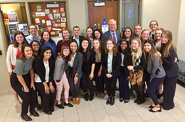 The SLU students and staff members who traveled to the 2019 Ignatian Teach-In.