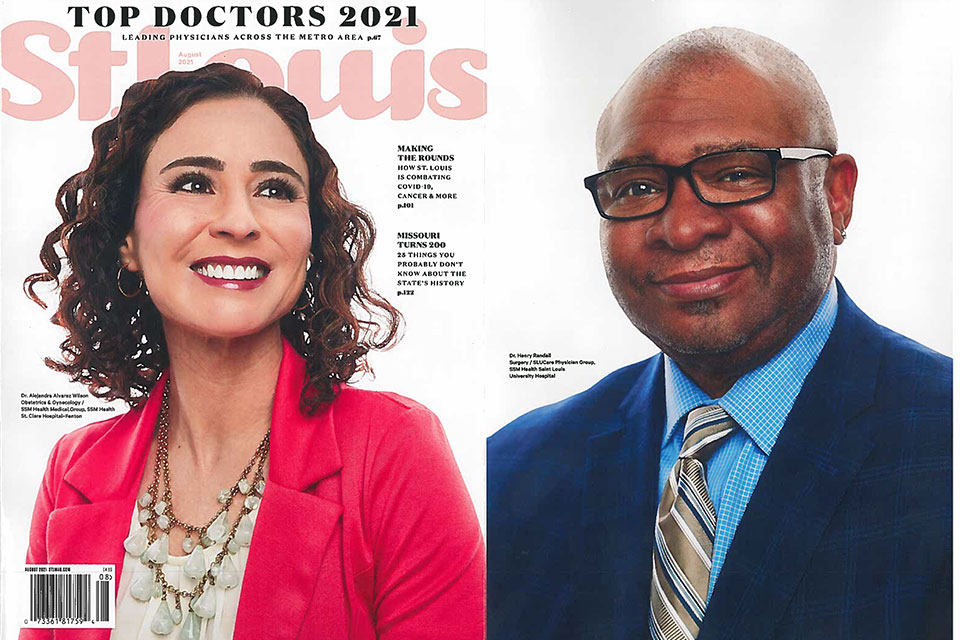 St. Louis Magazine has released its 2021 Top Doctors issue, revealing the area's top physicians. The list includes 96 physicians representing SLUCare Physician Group across more than 40 different specialties.