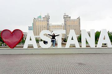 Izabel Trizlova in Astana, Kazakhstan