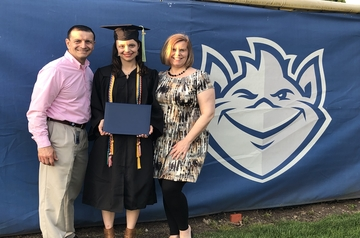 Frank Tucci, Ph.D., and his family, including his daughter, a SLU alumna.