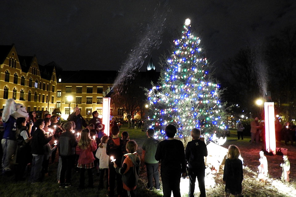 "To welcome the holiday season, Saint Louis University will host ""Christmas on the Quad,"" beginning at 5 p.m. on Saturday, Dec. 7, and the entire SLU community is invited to celebrate."