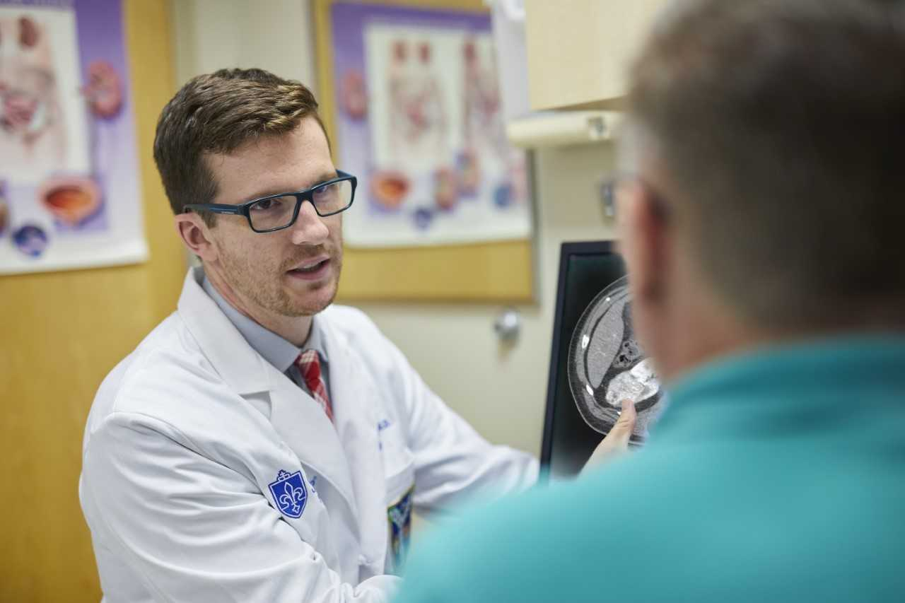 Zachary Hamilton, M.D., assistant professor of urologic surgery at SLU and a SLUCare urologic oncologist