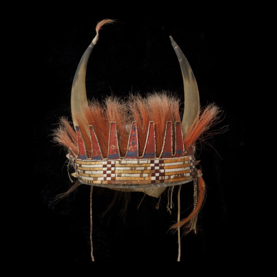 Bison horn headdress Great Lakes, North America