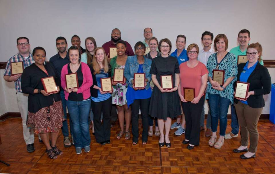 Winners of the 2017 Student Development Staff Recognition Awards